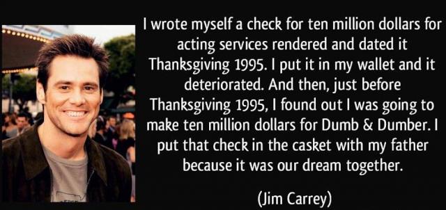 Jim Carrey manifested wealth