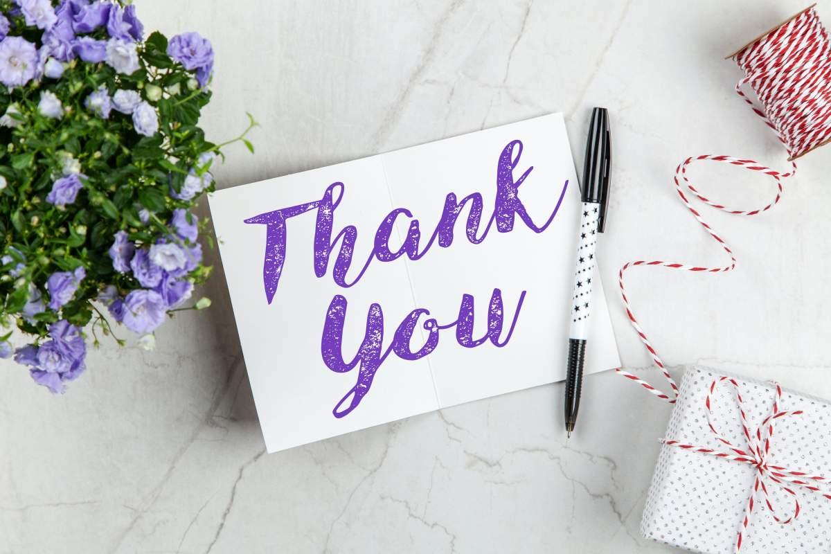 Thanks you - Gratitude exercises